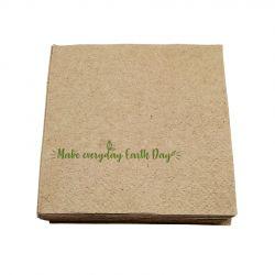 "Servilleta ecológica ""Make everyday earth day"" 30 x 30 cm (4.800 uds)"