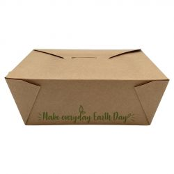 """Envases Take-Away 197 x 140 x 45mm """"Make everyday earth day"""" (200 uds)"""