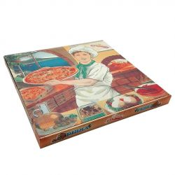 Caja Pizza 260 x 260 x 35mm (100 uds)