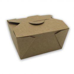 Caja Take Away Kraft 113 x 90 x 63mm (450 uds)