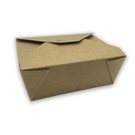 Caja Take Away Kraft 152 x 120 x 63mm (300 uds)