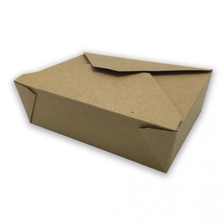 Caja Take Away Kraft 197 x 140 x 45mm (200 uds)