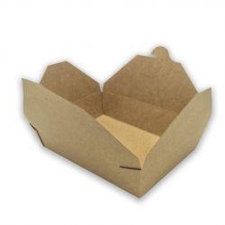 Caja Take Away Kraft 197 x 140 x 65mm (200 uds)