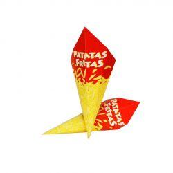 Cono Fritos impreso económico 160 x 120mm (1.600 uds)