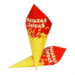 Cono Fritos impreso económico 190 x 150mm (1.600 uds)