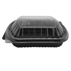 Envase PP + Tapa OPS 1026ml 240 x 200 x 41mm (200 uds)