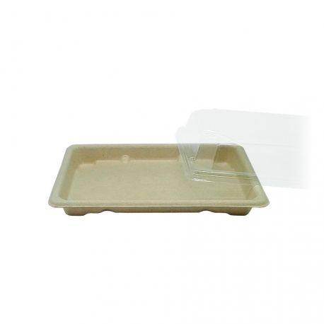 Envases de fibra de trigo Sushi 186 x 130 x 20mm (800 uds)