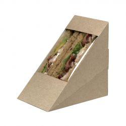 Envases Sándwich con ventana de celulosa Mediano 123 x 72 x 123mm (500 uds)