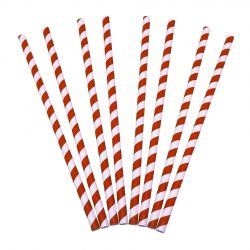Pajitas de papel rectas 6 x 200mm (10.000 uds)