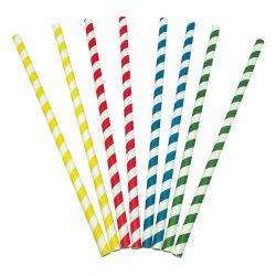 Pajitas de papel rectas 8 x 230mm (5.000 uds)