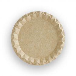 Platos de cartón Kraft 230 x 230 x 7mm (600 uds)