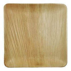 Platos de hoja de Palma Cuadrados 250 x 250mm (100 uds)