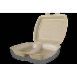 Envases Portamenú 2 compartimentos de XPP 240 x 210 x 70mm (200 uds)