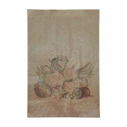 Bolsa de Papel Frutería Antihumedad 20 + 9 x 31cm (500 uds)