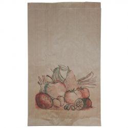 Bolsa de Papel Frutería Antihumedad 20 + 9 x 36cm (500 uds)